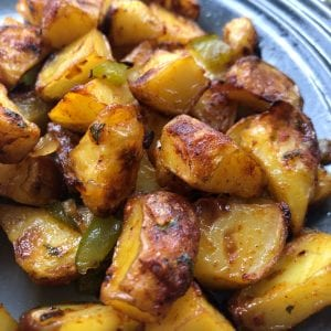 ketchup and salt and pepper potatoes