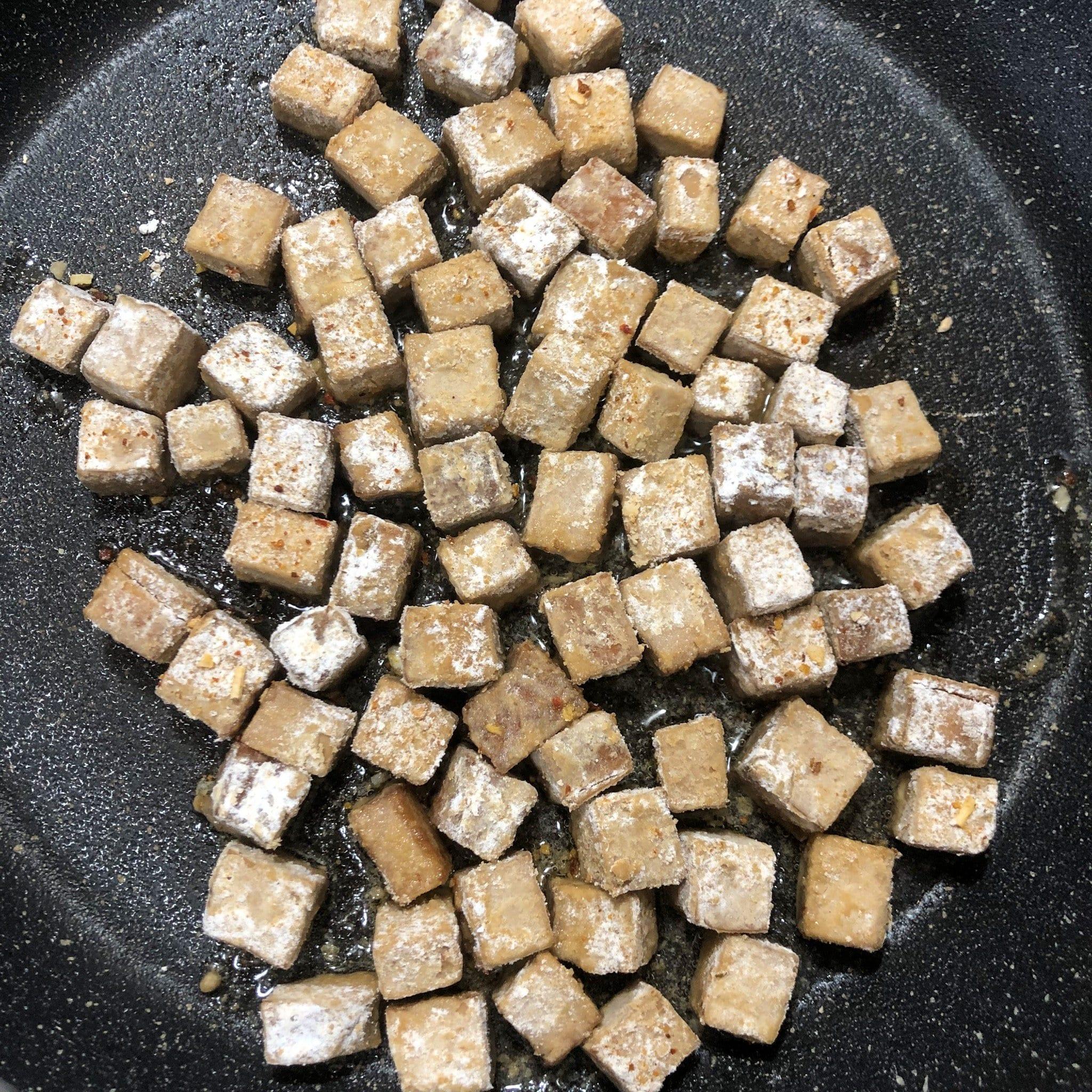 tofu in pan 1