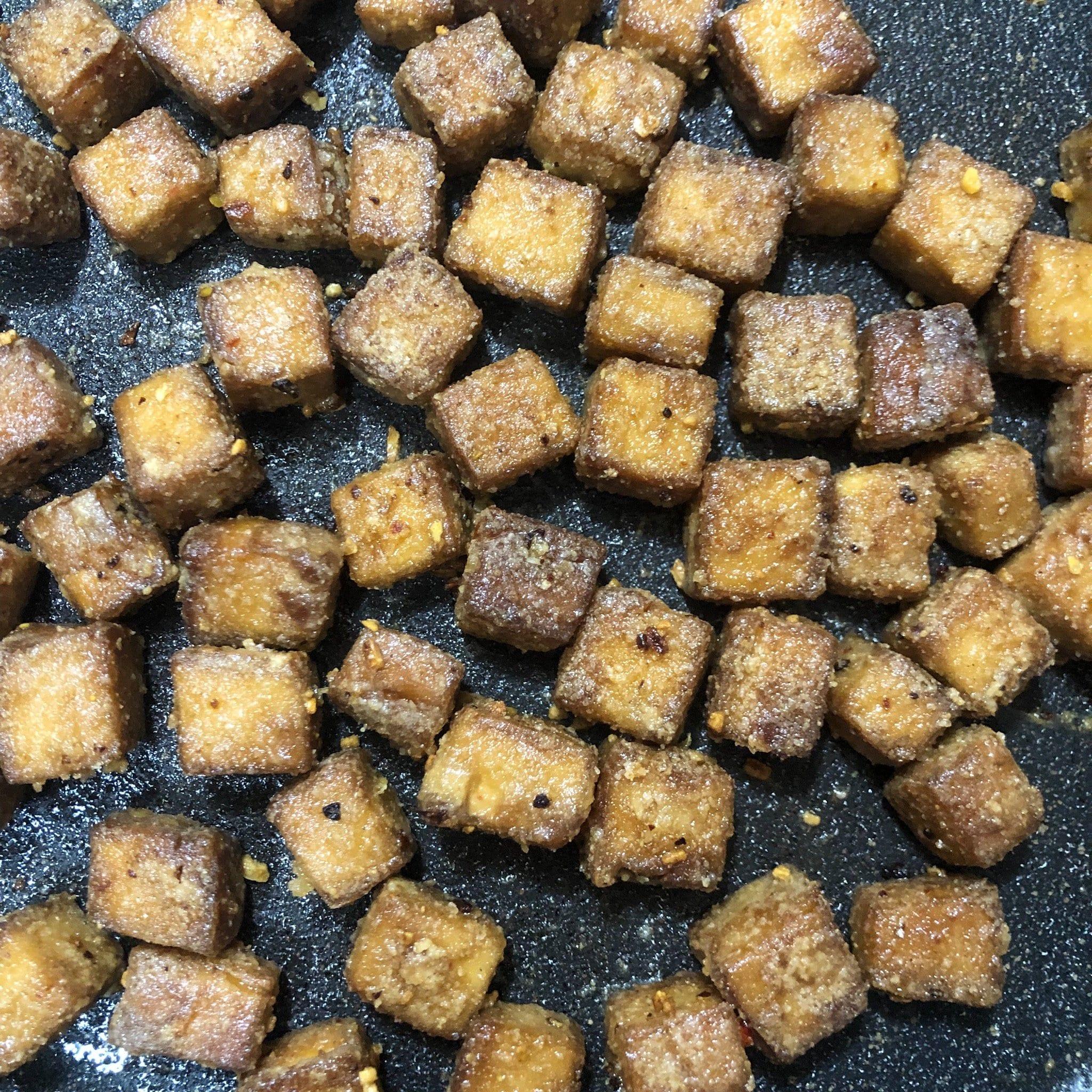tofu in pan 2