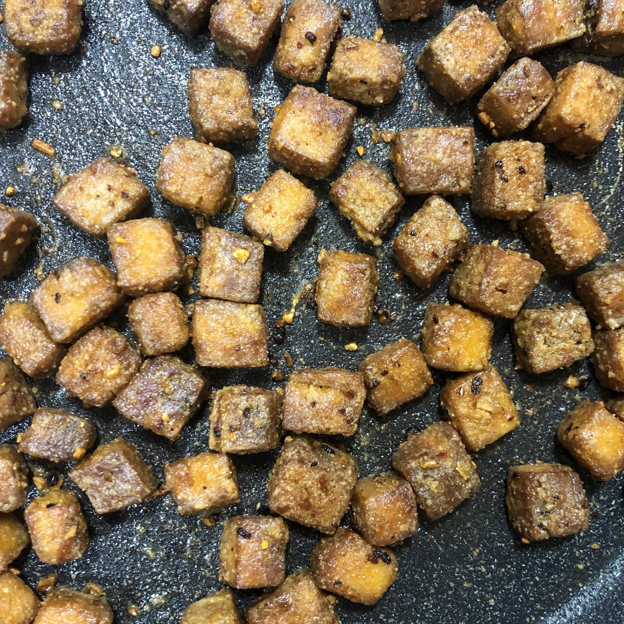 tofu in pan 3