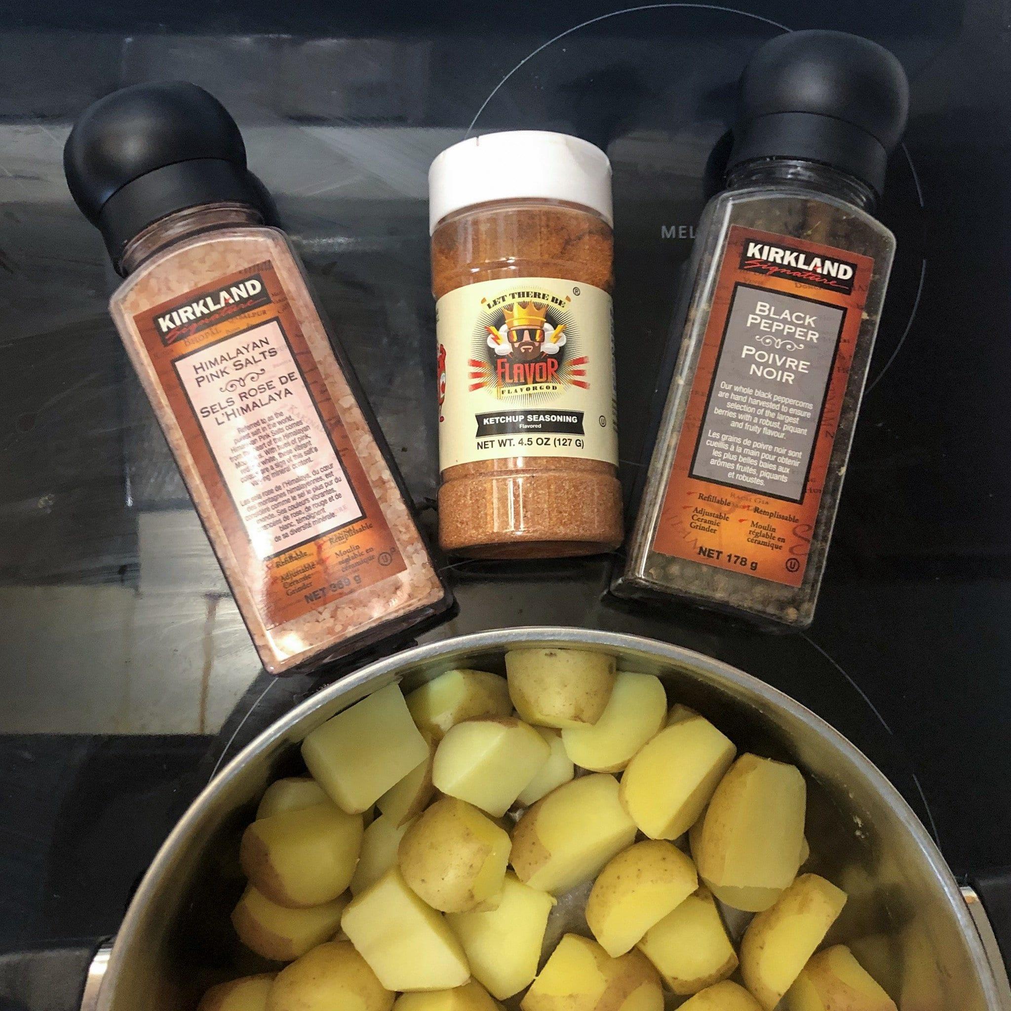 mini potatoes and seasonings