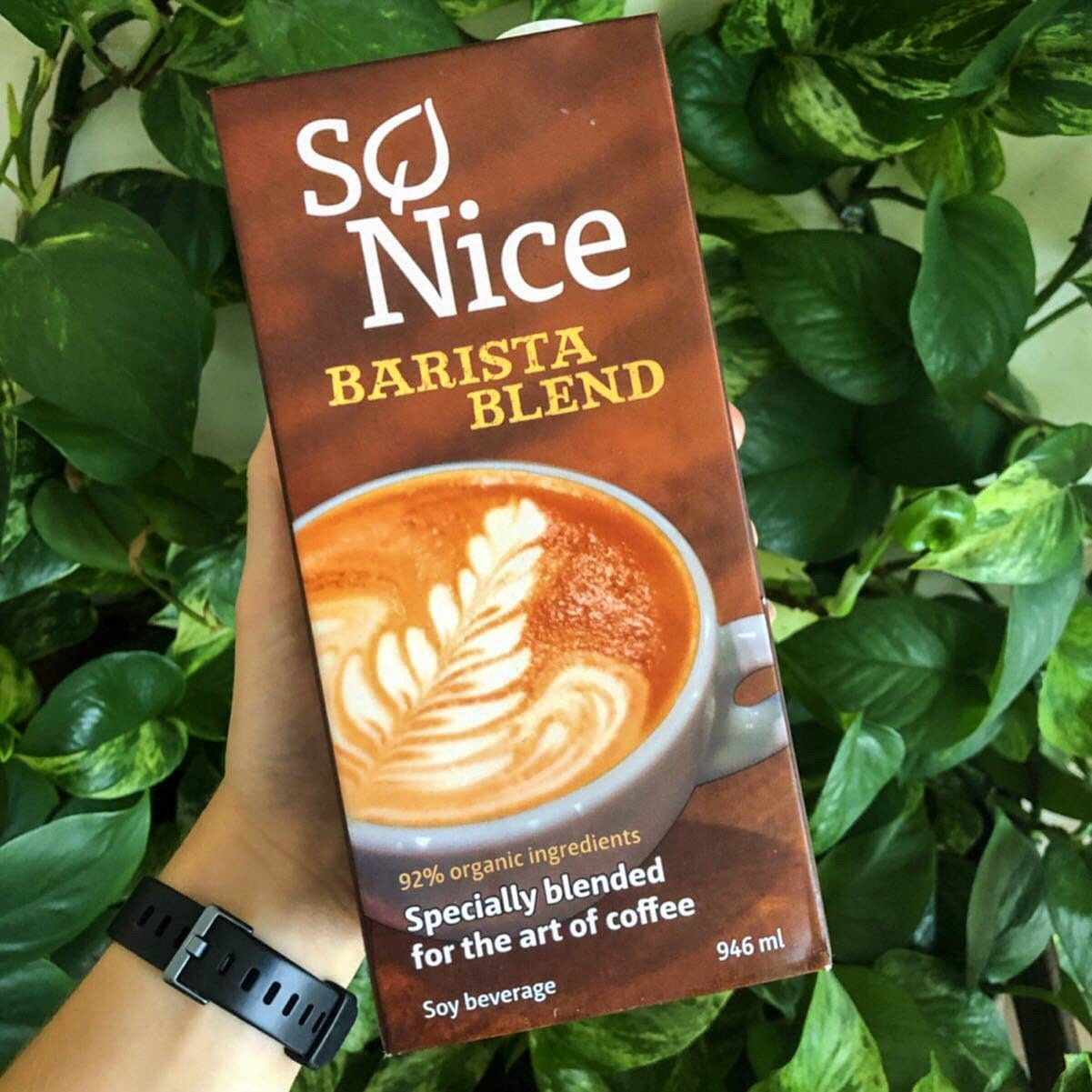 earth's own barista blend soy milk