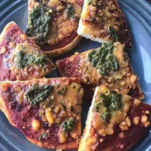 mini pesto pizza recipe