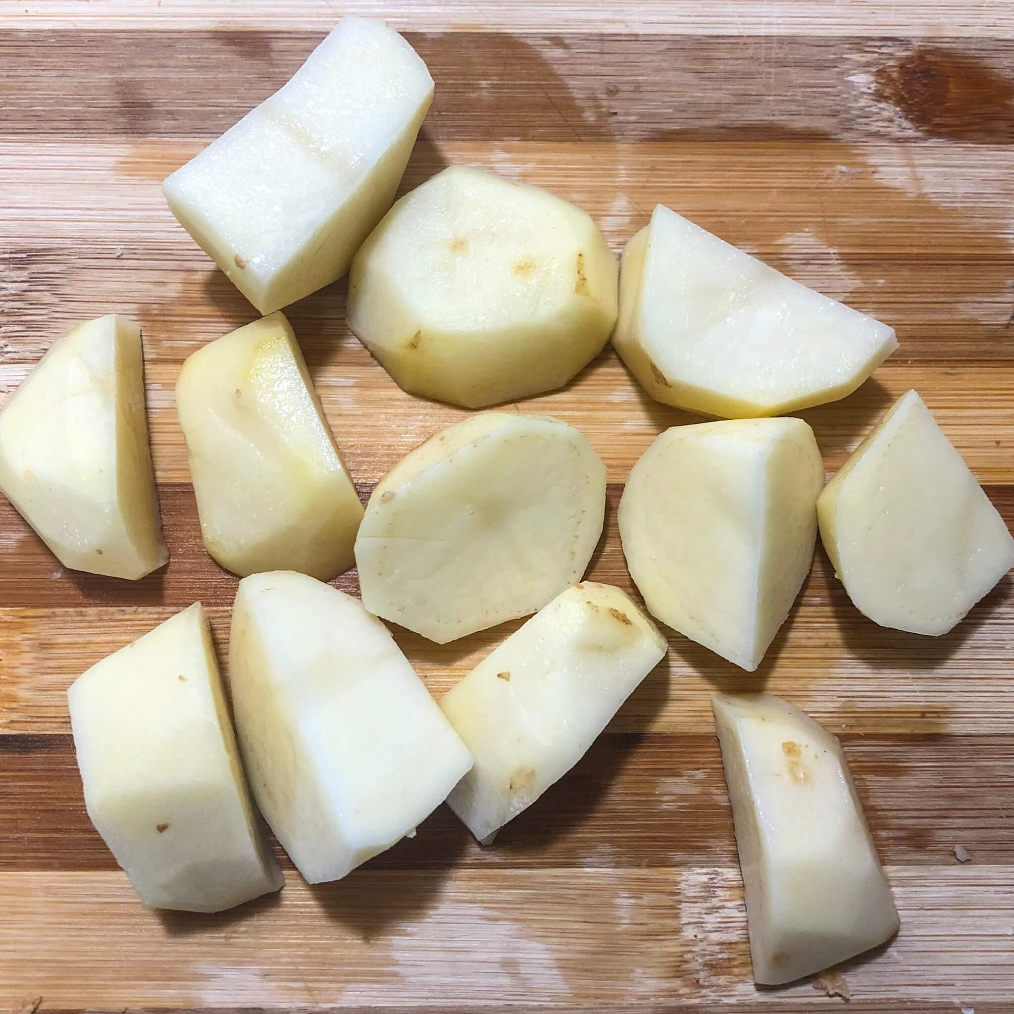 potatoes cut into small bites essential for thanksgiving recipe