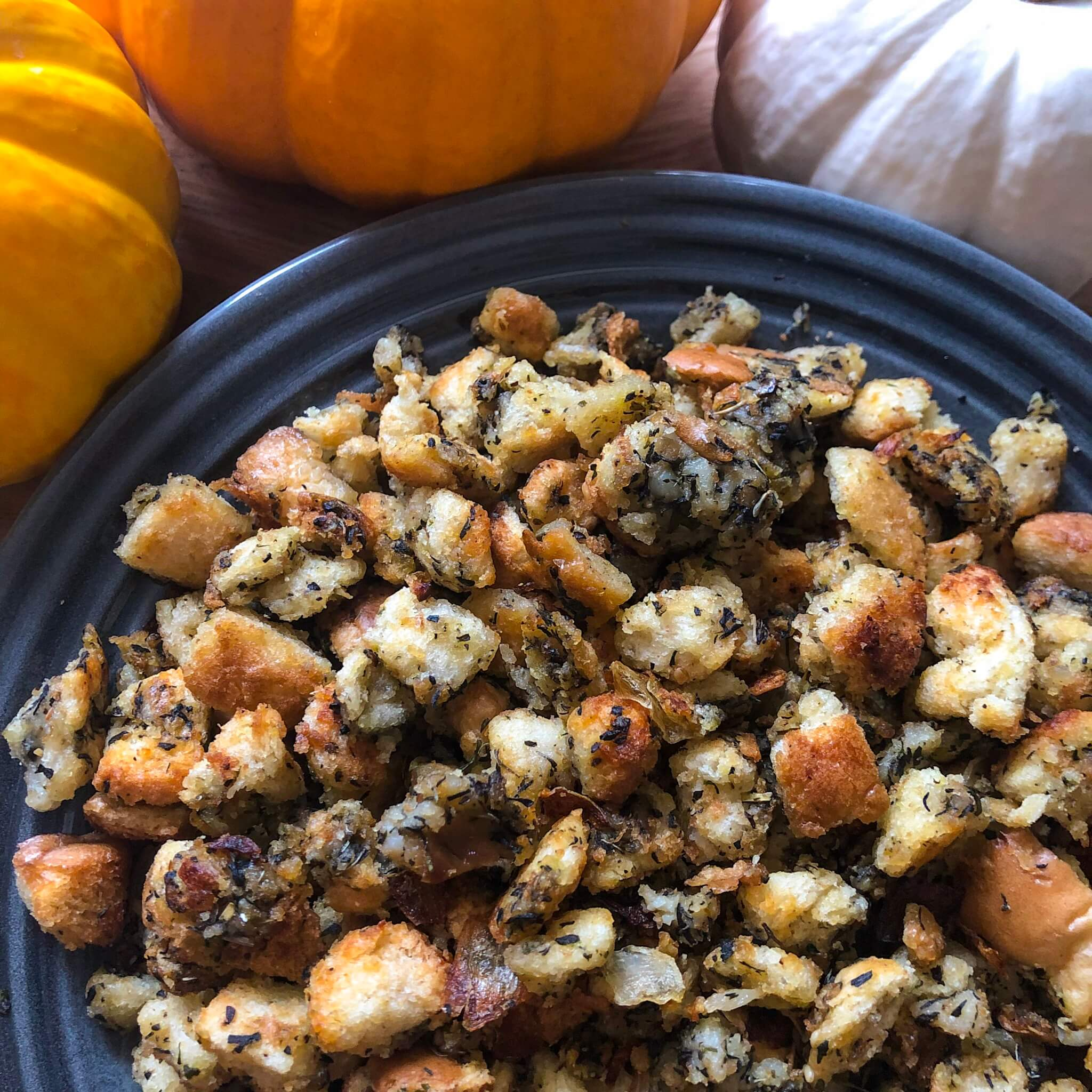 thanksgiving stuffing plated
