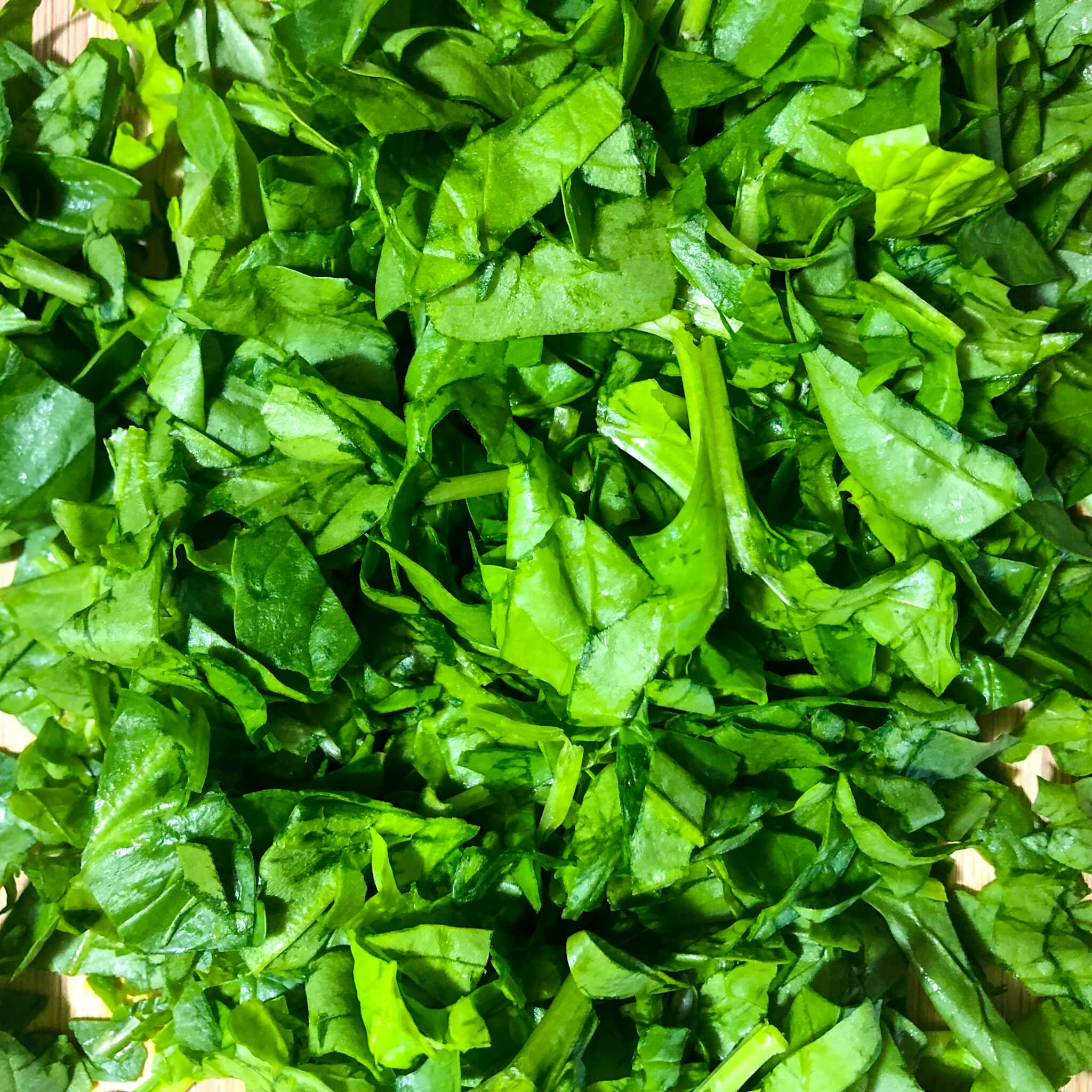 spinach for the spinach lasagna recipe