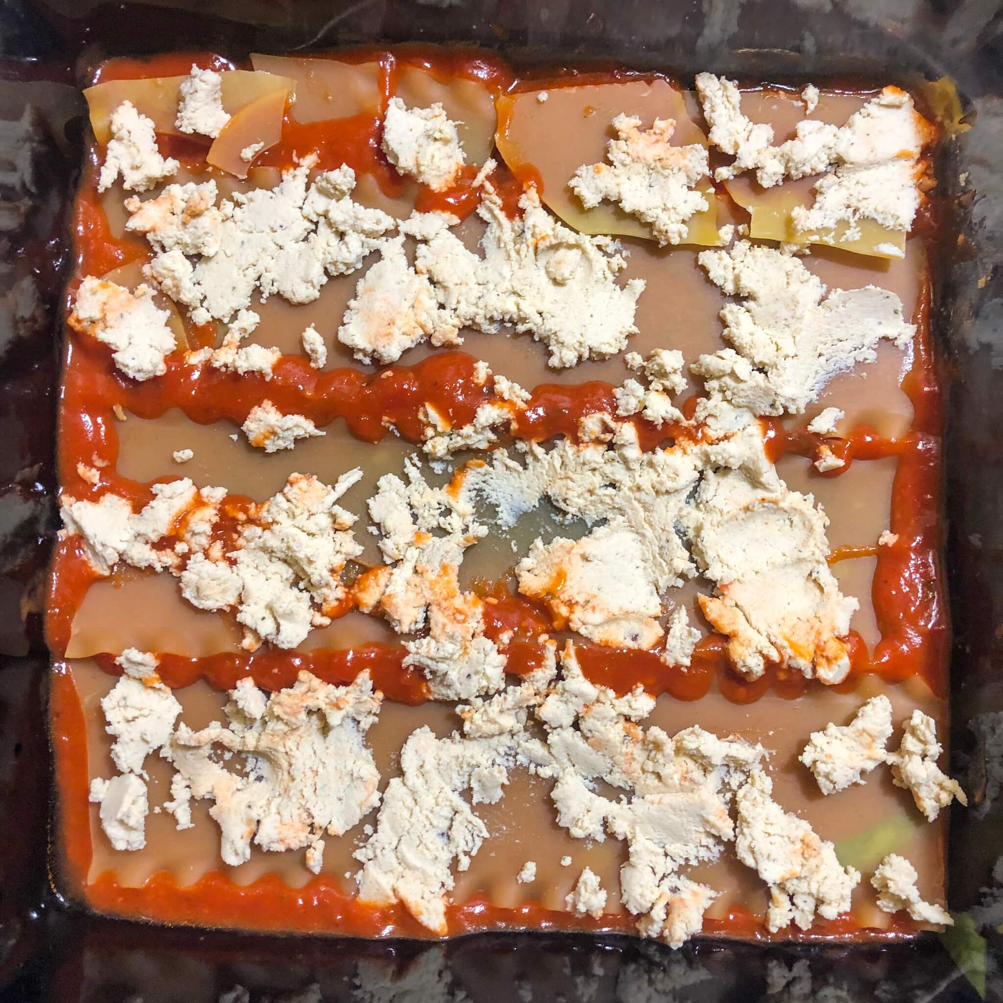 noodles with tofu ricotta lasagna recipe step 2