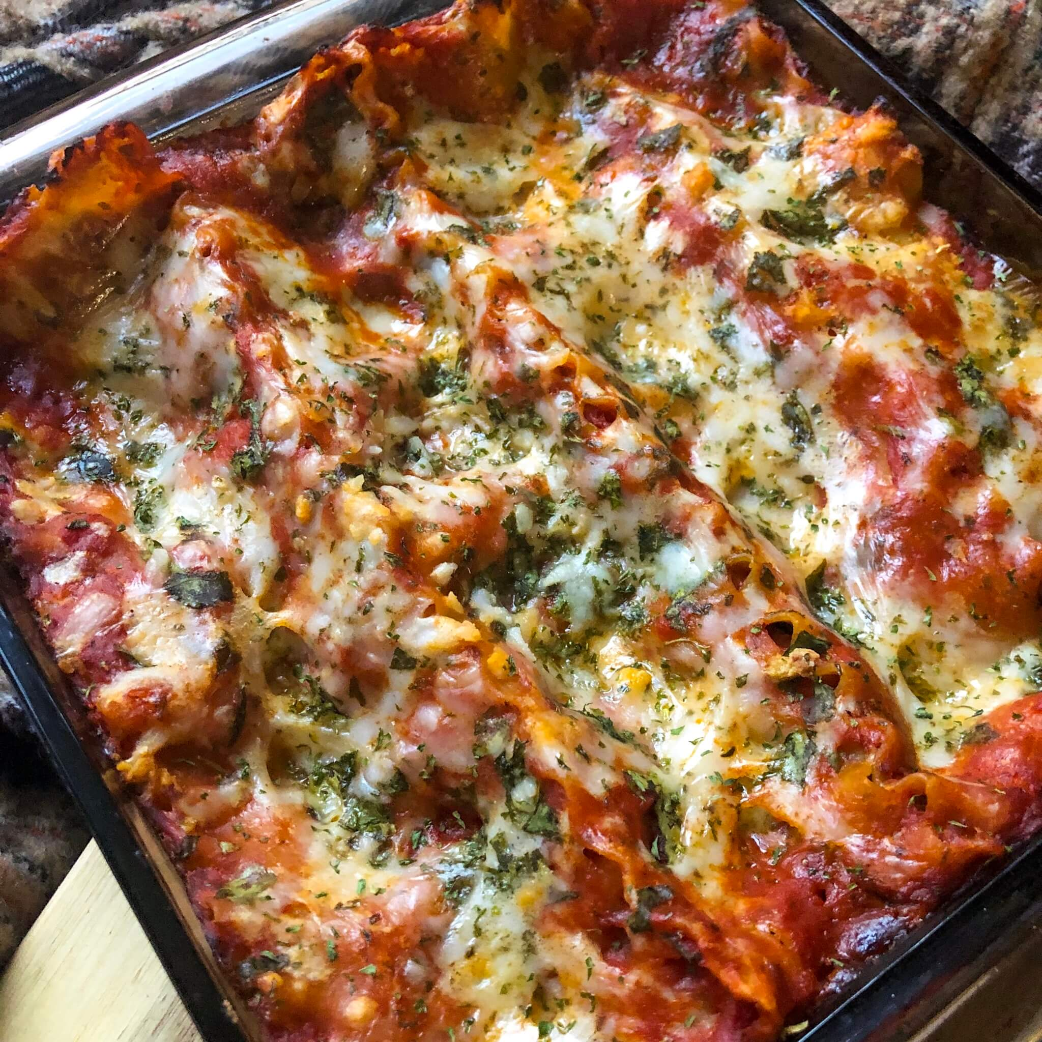 final cooked spinach lasagna recipe