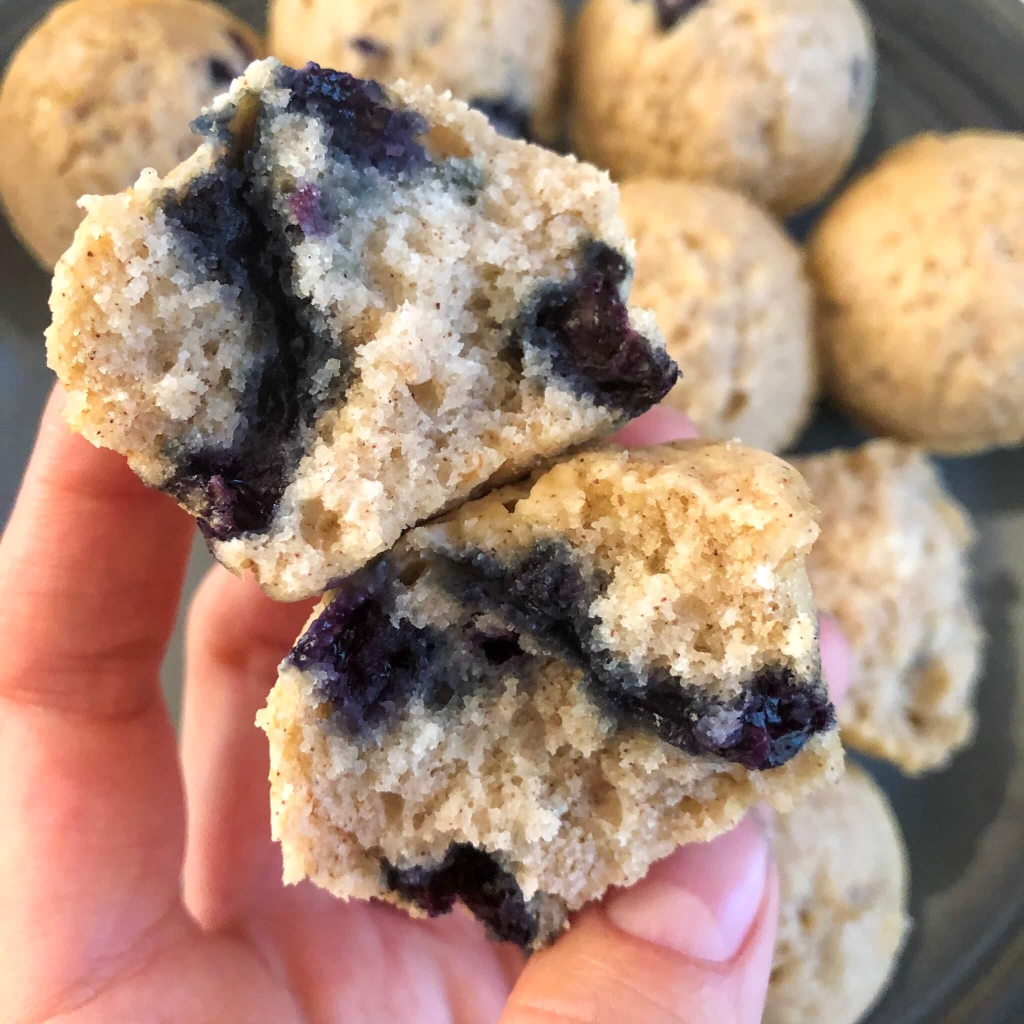 mini vegan pancake muffin