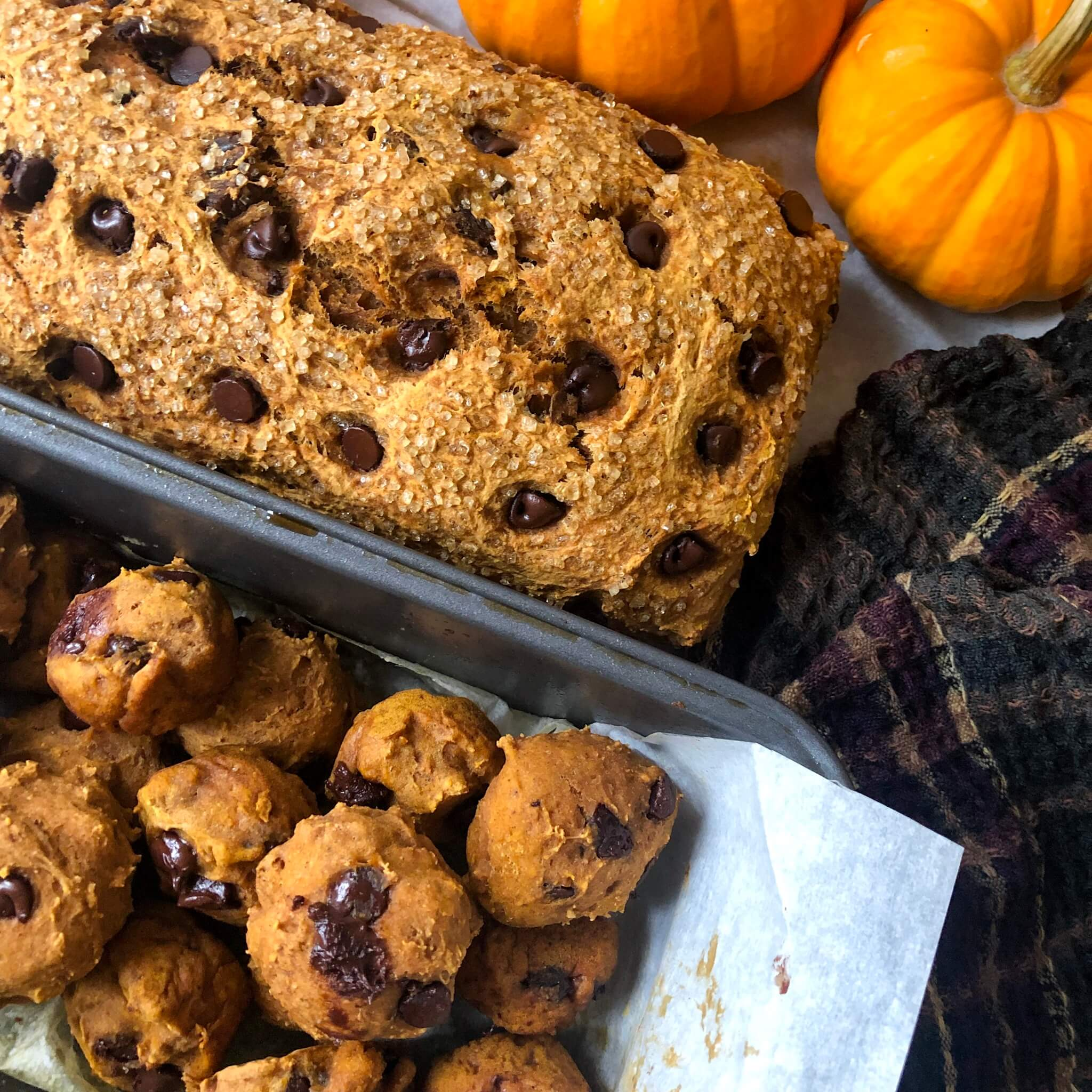 pumpkin cookies with pumpkin loaf