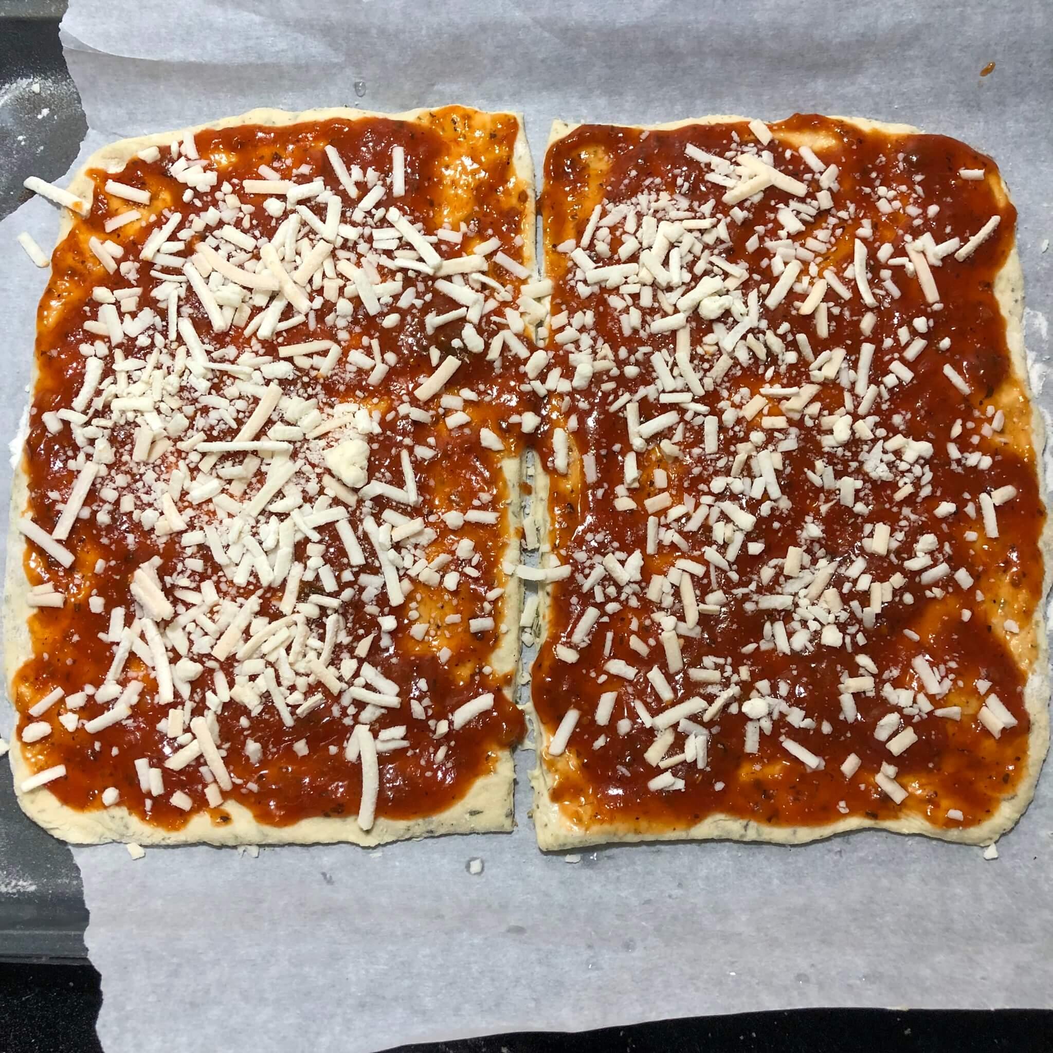 vegan stromboli raw with cheese