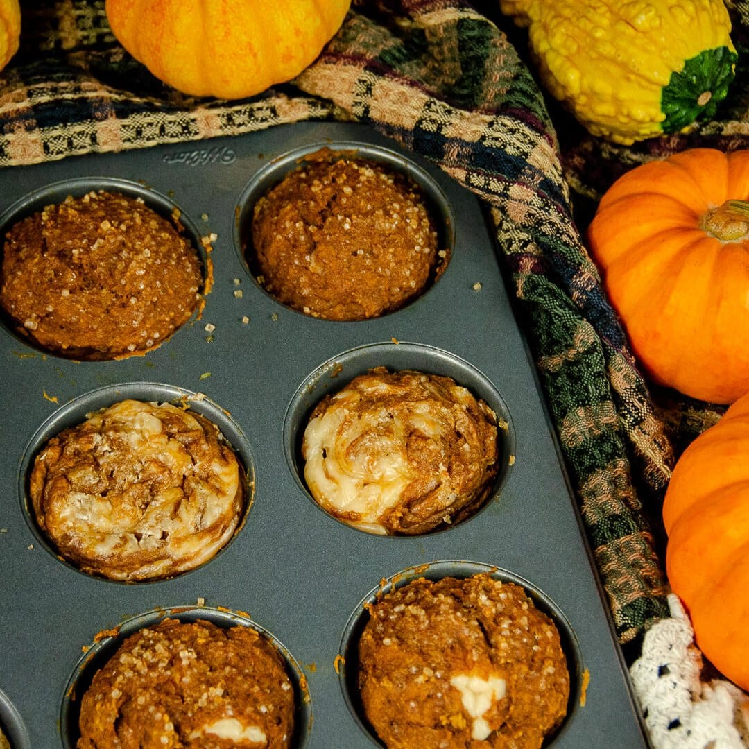 vegan pumpkin muffins recipe cooked up close
