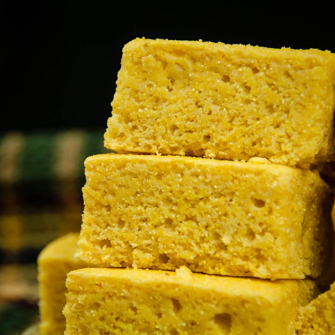 close up of healthy cornbread recipe