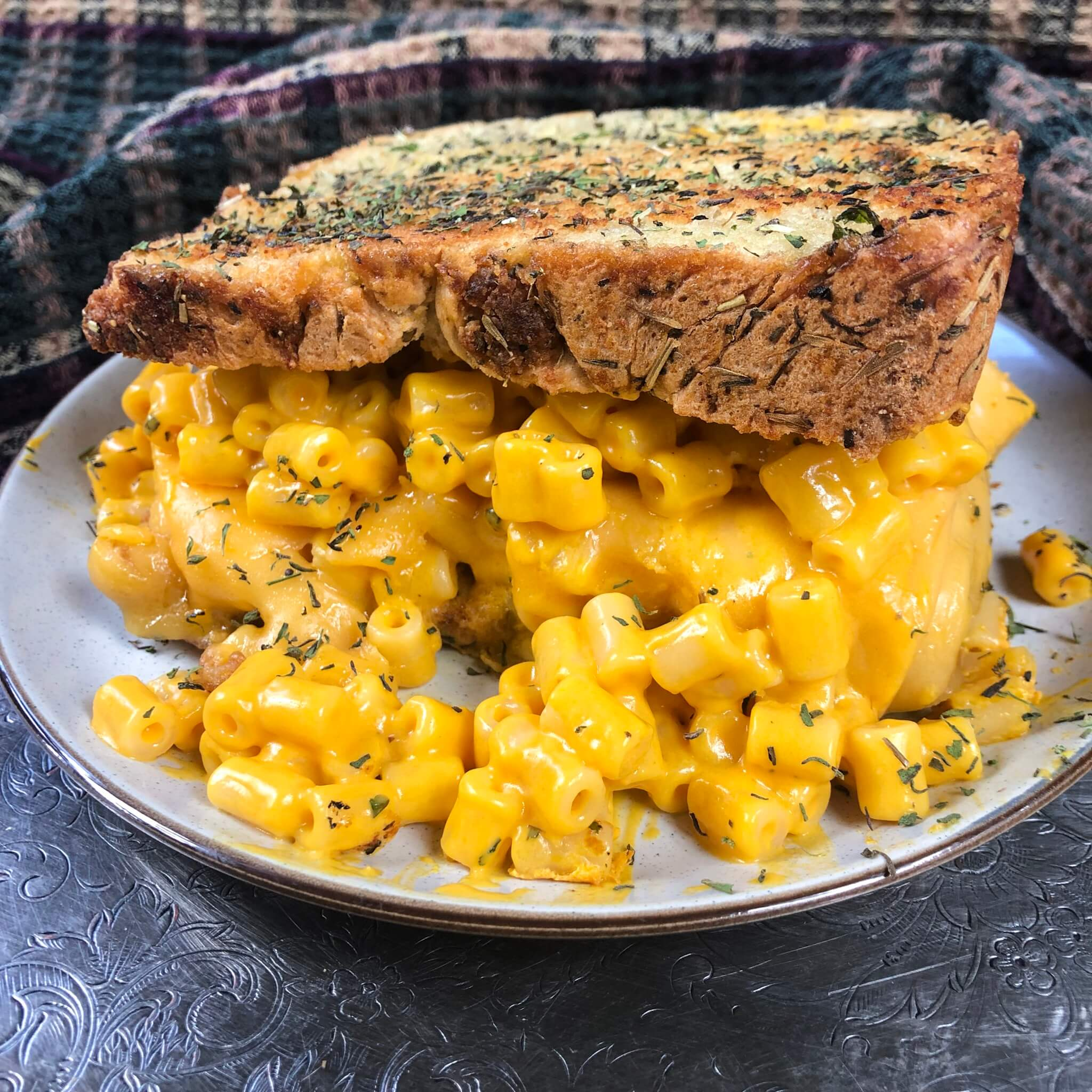 vegan stuffing bread mac and cheese grilled cheese