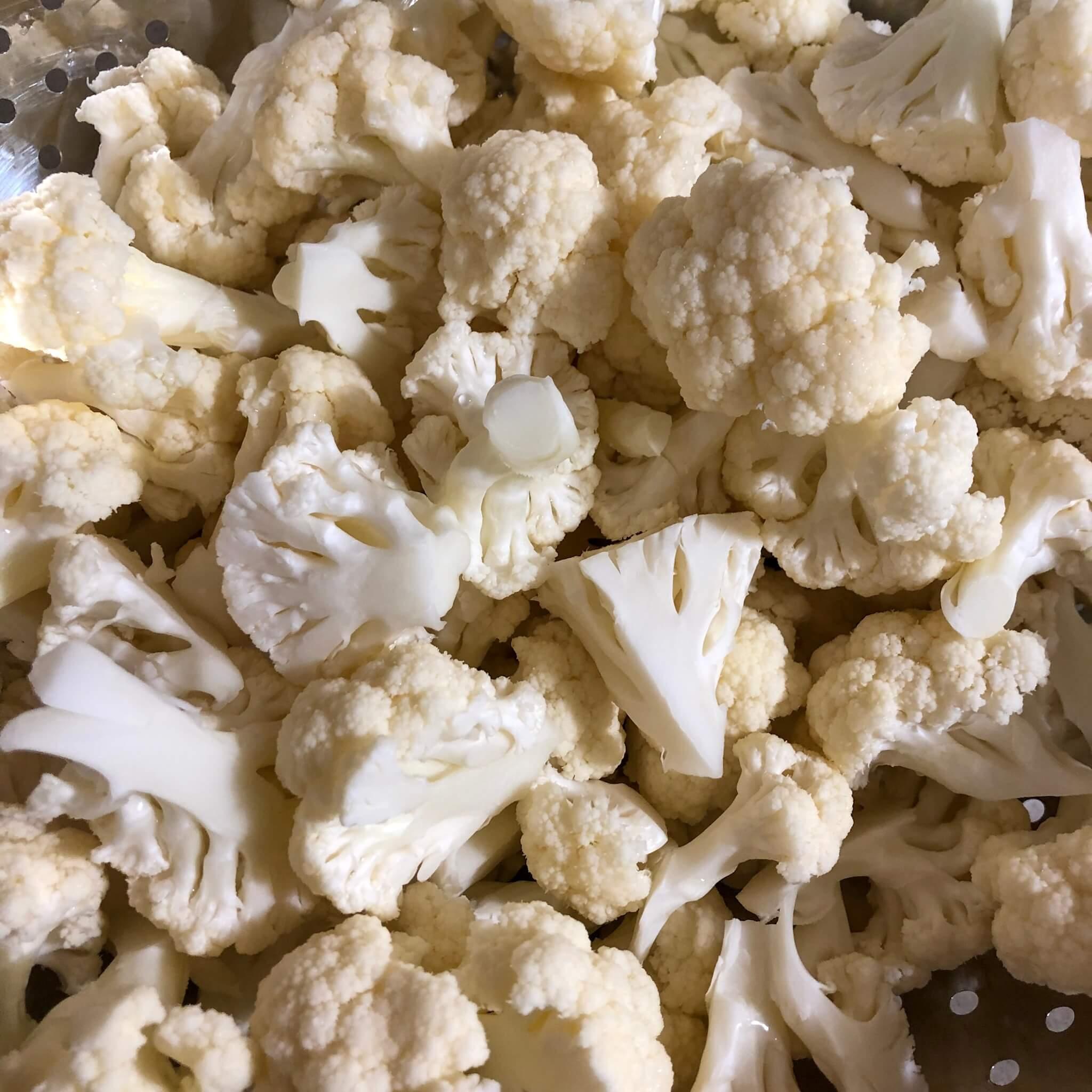 cauliflower chopped into small pieces for cauliflower recipes