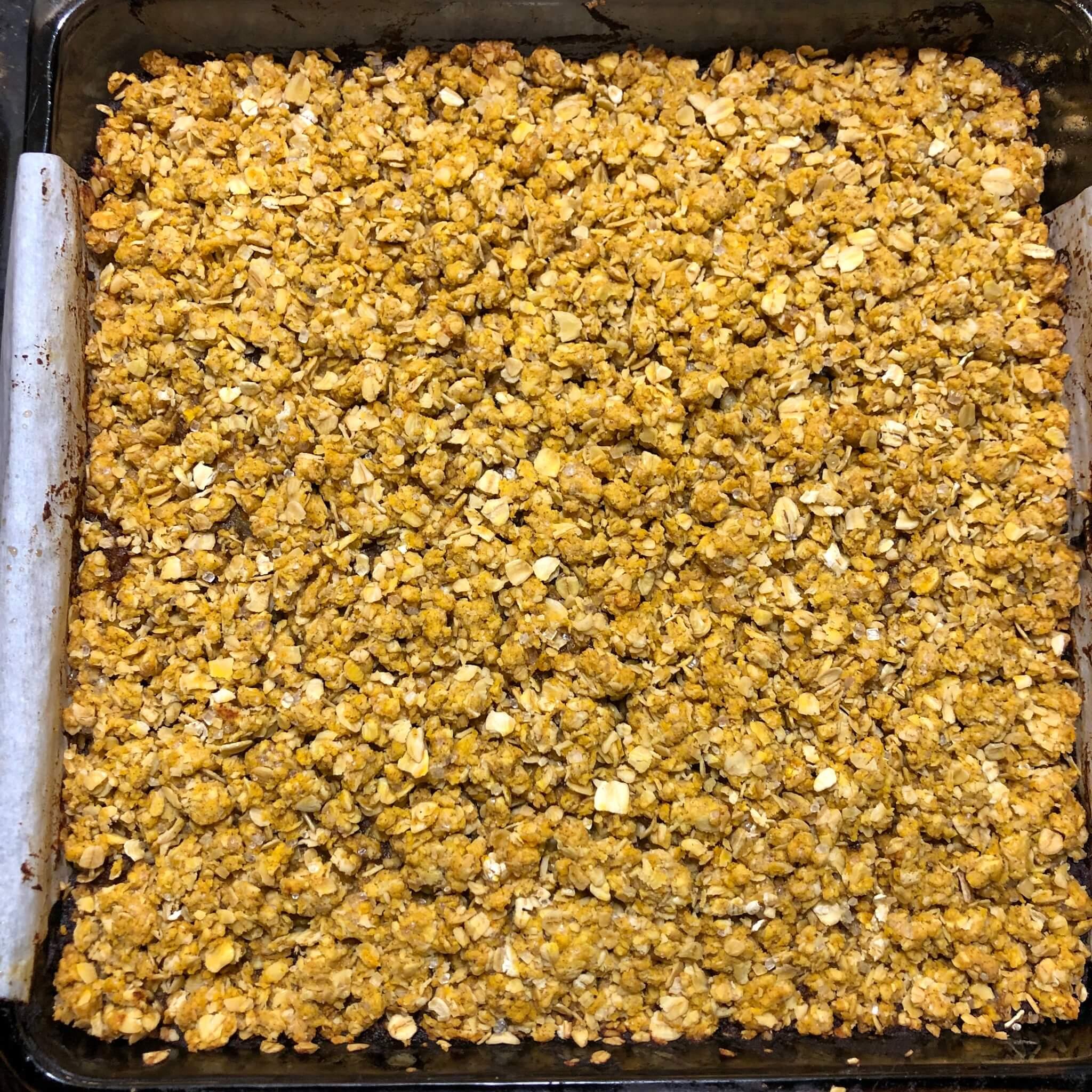 vegan pumpkin date squares recipe