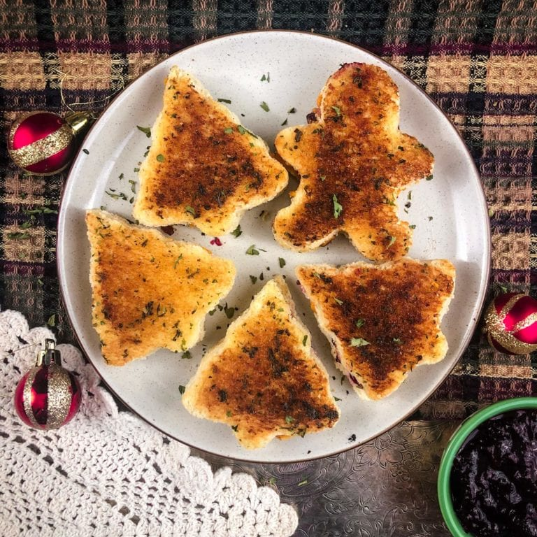 vegan christmas grilled cheese hero