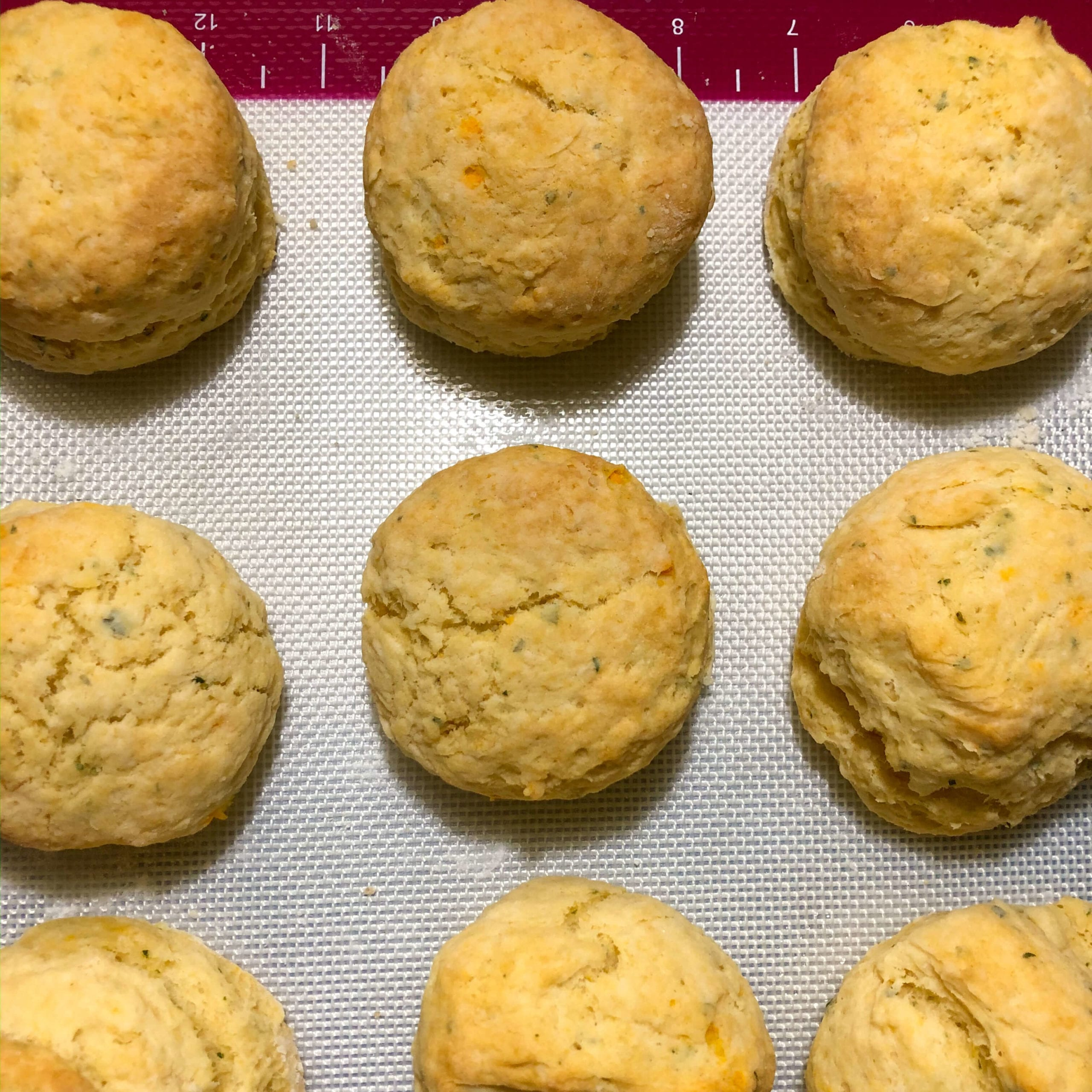 vegan cheese biscuits cooked