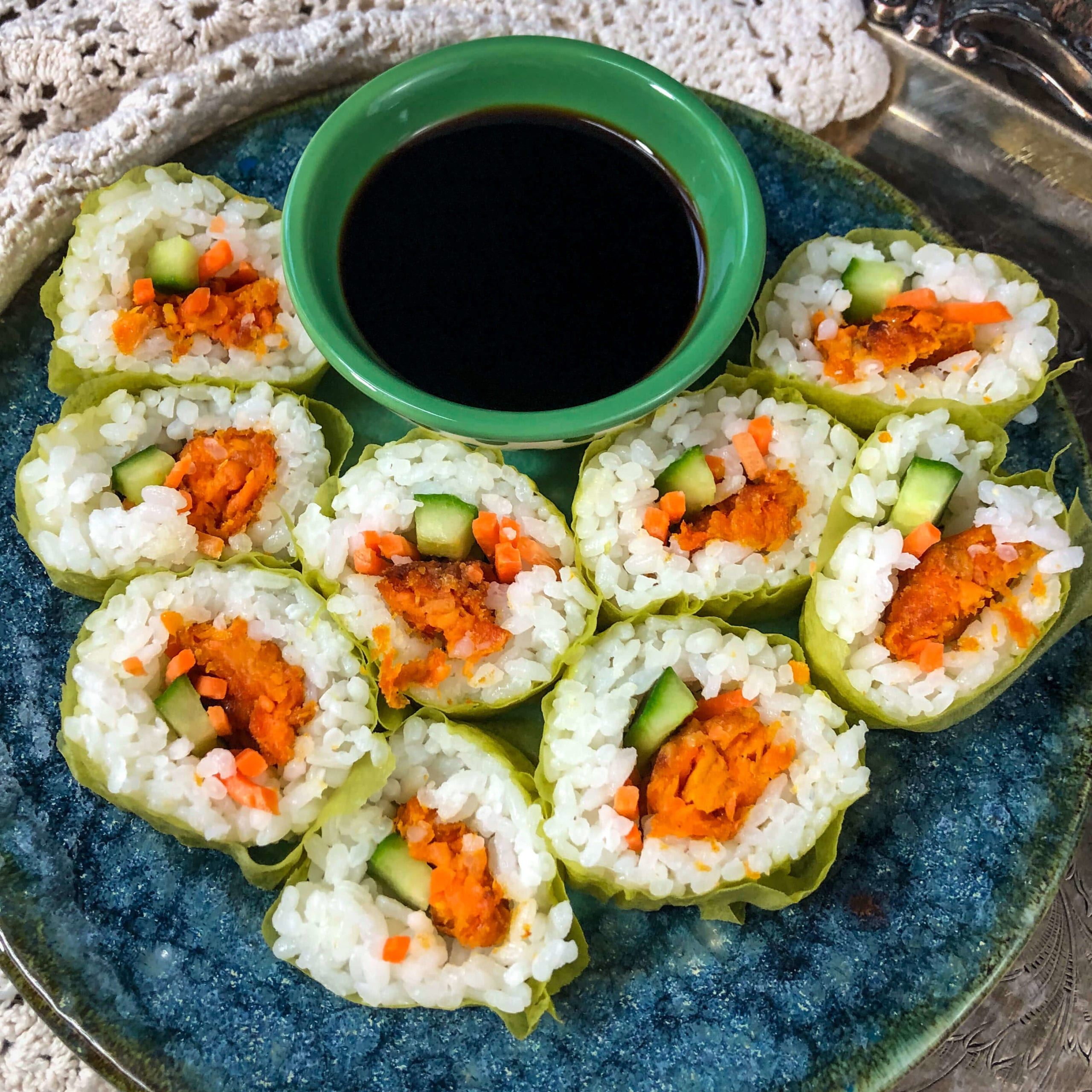 vegan sweet potato sushi hero
