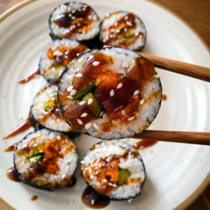 easy sweet potato sushi with nori