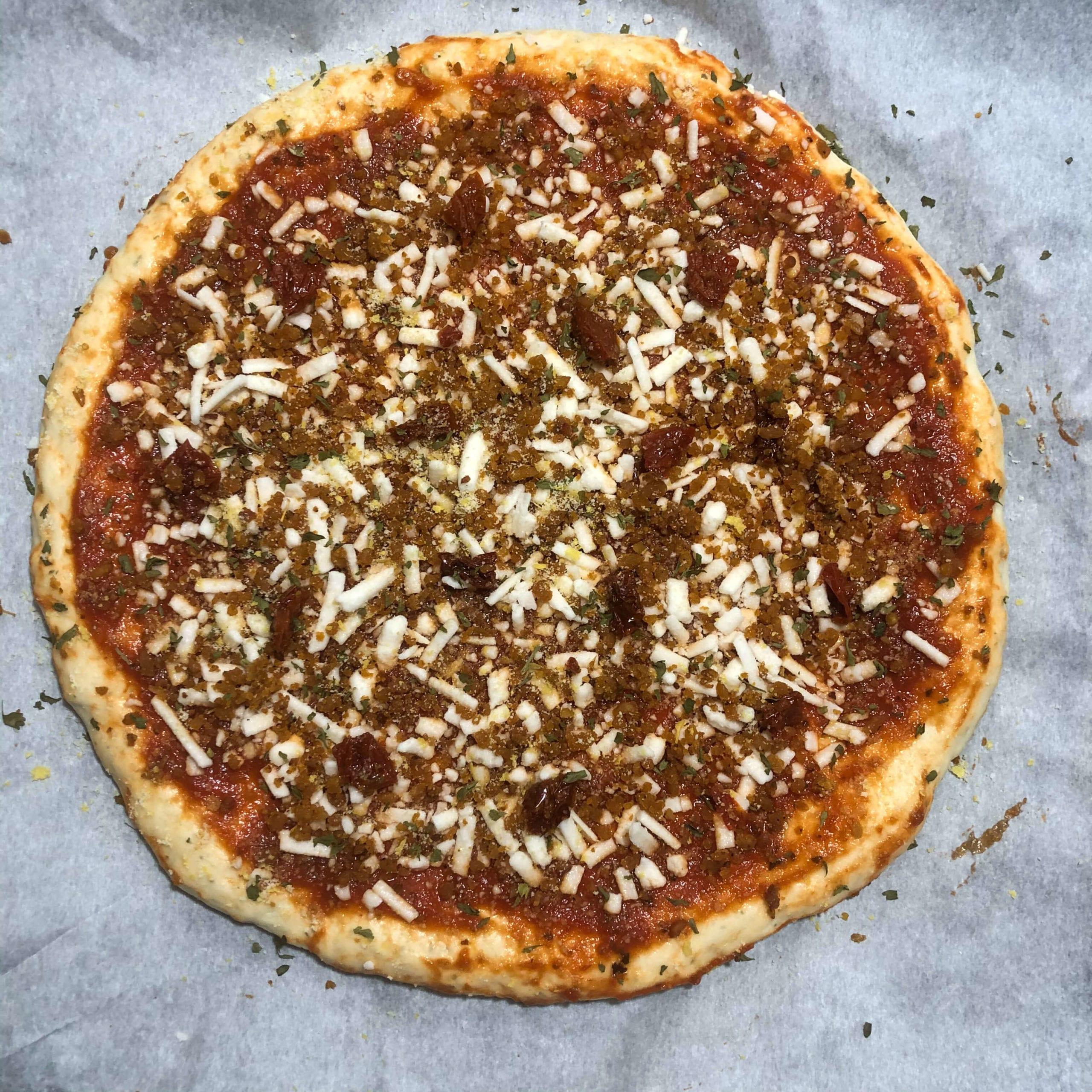 seasoned pizza raw