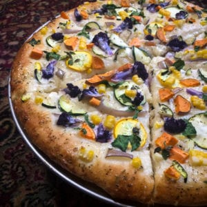 Harvest veggie pizza hero